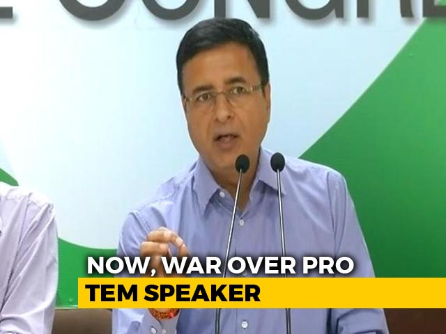 Video : Congress Hits Out At BJP Over Temporary Speaker Appointment