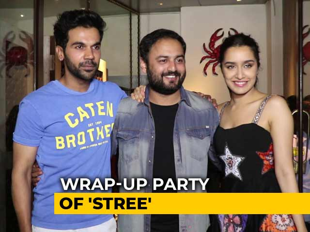 Shraddha Kapoor & Rajkummar Rao At The Wrap-Up Party Of Stree