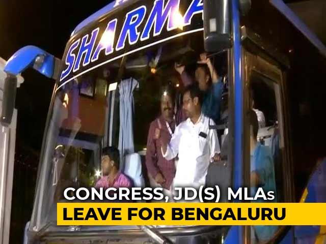 Trust Vote Hours Away, JDS-Congress Lawmakers Head Back To Bengaluru