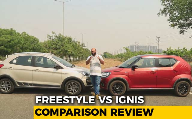Video : Ford Freestyle VS Maruti Suzuki Ignis: Cross Hatchback Comparison Review | NDTV CarAndBike