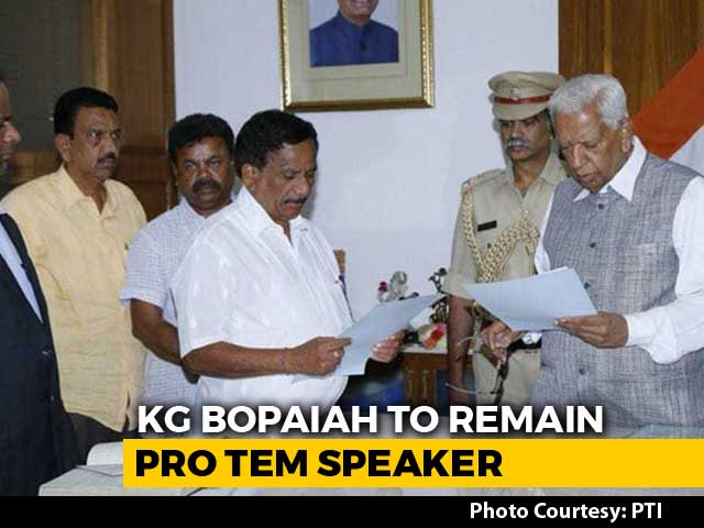 Video : KG Boapaiah To Stay Temporary Speaker, Floor Test To Be Broadcast Live