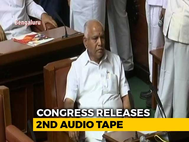 Video : Congress Releases More Tapes, Says Yeddyurappa Tried To Poach Lawmaker