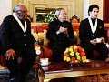 Video : Sachin Tendulkar, CNR Rao receive Bharat Ratna
