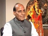 Video: No question of me as BJP probable, Rajnath to NDTV