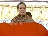 Video: Sonia Gandhi Vows to Make Up with Seemandhra