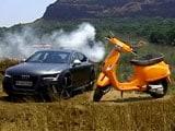 Audi's Femme Fatale: RS7 & Vespa's Boyride!