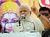 Video: Narendra Modi's Rally Has Lord Ram Backdrop, Congress Objects