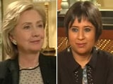 Video: Watch: Iraq PM should change for US to intervene - Hillary Clinton to NDTV