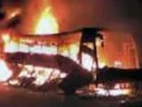 Video : Hyderabad: Bus Catches Fire, No Casualties Reported