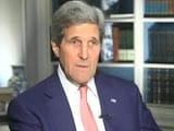 Video: Watch: Don't Know that Israel Bombed a School - John Kerry to NDTV