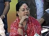 Video : Vasundhara Wants CBI Probe Against Ashok Gehlot, Sachin Pilot