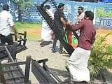 Video : On Camera, Men Holding BJP Flags Seen Vandalising Kerala Coffee Shop