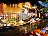 Video: Rowing While Shopping: Bangkok
