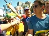 Excited Fans Embrace Australia's World Cup 2015 triumph