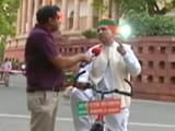 Videos : साइकिल से संसद जा रहे हैं बीजेपी सांसद मेघवाल