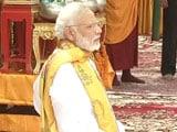 Video : PM Narendra Modi Visits Bodhgaya, Meditates At Mahabodhi Temple