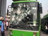 Video : आदर्श नगर मेट्रो स्टेशन के बाहर हंगामा, डीटीसी की 5 बसों में तोड़फोड़