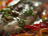 Video : Roasted Hake With Sweet Peppers