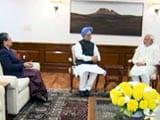 Video : सोनिया गांधी, मनमोहन सिंह ने की प्रधानमंत्री नरेंद्र मोदी से मुलाकात