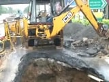 Video : Crater in Major Road As Rain Batters Chennai; Schools Remain Shut