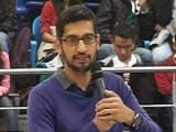 Video: Google CEO Sundar Pichai at Delhi University