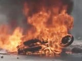 Video : Gujarat Cop Attacked, Bike Set On Fire, Assault Caught On Camera