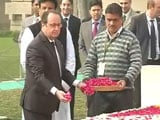Video : French President Pays Tribute to Mahatma Gandhi at Rajghat
