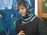 Video : Mehbooba Mufti Declared Jammu And Kashmir Chief Minister Candidate