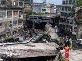 Video : कोलकाता में निर्माणाधीन फ्लाईओवर का हिस्सा गिरा