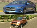 2017 Hyundai Elantra, Mahindra NuvoSport and Triumph Bonneville T120