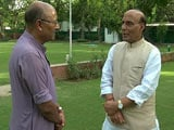 Video: Home Minister Should Not Speak Much: Rajnath Singh To NDTV