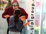 Video: This Actor Decides To Scare People By Wearing The Terrifying Mask