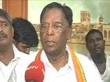 Video : V Narayanasamy Sworn-In As Puducherry Chief Minister