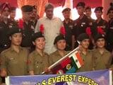 Video : एनसीसी की नौ लड़कियों ने माउंट एवरेस्ट पर फहराया तिरंगा