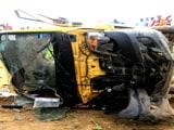Video : यूपी : भदोही में ट्रेन से टकराई मिनी स्कूल वैन, 7 बच्चों की मौत