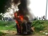 Video : 8 Killed After School Van Collides With Train In Uttar Pradesh