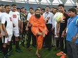 Video : Bollywood vs Politicians in Charity Football, Kicked-Off by Baba Ramdev