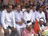 Video : Minister Ananth Kumar Visits ABVP's Anti-Amnesty Protest In Bengaluru
