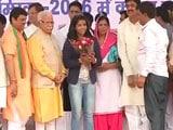 Harayana Chief Minister Felicitates Bronze Medallist Sakshi Malik