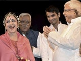 Video : Remember That One-Liner? Now Lalu Yadav And Sons Watch Hema Malini's Show