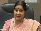 Video : Sushma Swaraj, In Tweet, Says She's In Hospital 'Because Of Kidney Failure'