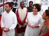 Video : Priyanka, Rahul By Her Side, Sonia Gandhi Salutes Indira's Courage