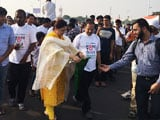 Video: Actor Khushboo Flags Off Walkathon In Chennai