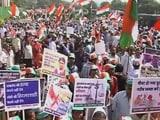 Video : मुंबई में कांग्रेस ने आक्रोश दिवस पर मार्च निकाला