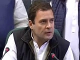 Video : After Rahul Gandhi's 'Hand' Remark, BJP Guns For Congress Poll Symbol