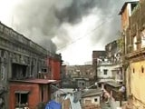 Video : Huge Fire Breaks Out In Burrabazar, Kolkata's Biggest Wholesale Market