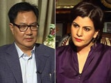 Video: 'Gurmehar Kaur Being Used As A Pawn,' Minister Kiren Rijiju Tells NDTV