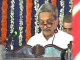 Video: Manohar Parrikar Takes Charge Of Goa, Trust Vote Thursday, Says Top Court