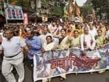 Video: BJP Protests Against Trinamool Congress Leaders Seen In Narada Sting