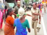Video : Cop Caught On Camera Slapping Woman Protester In Tamil Nadu's Tirupur